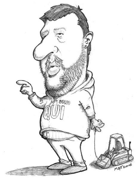 Matteo Salvini caricatura