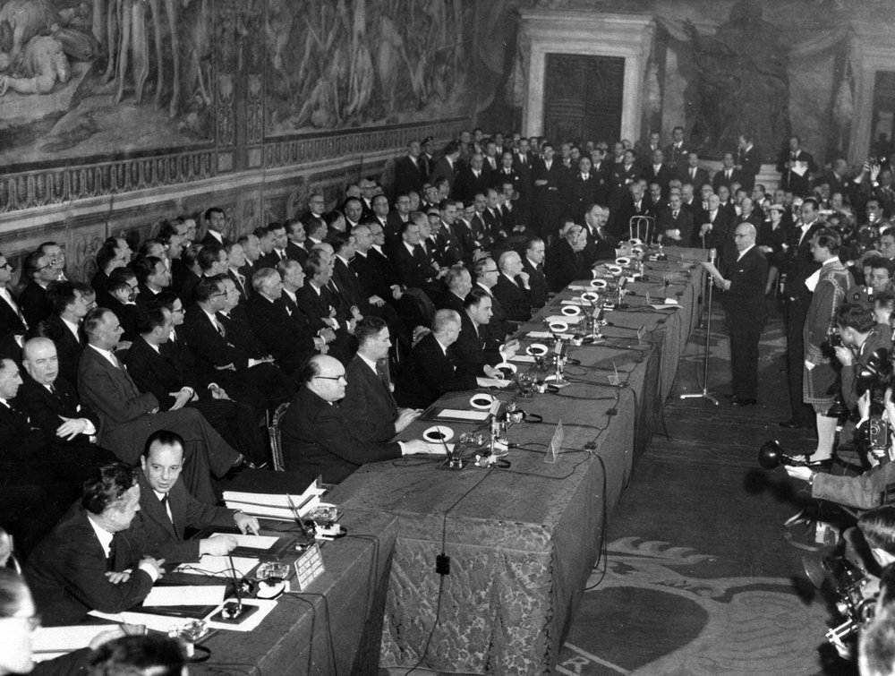 Comunità economica europea - Firma del Trattato di Roma il 25 marzo 1957