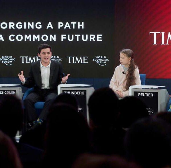 Greta Thumberg a Davos
