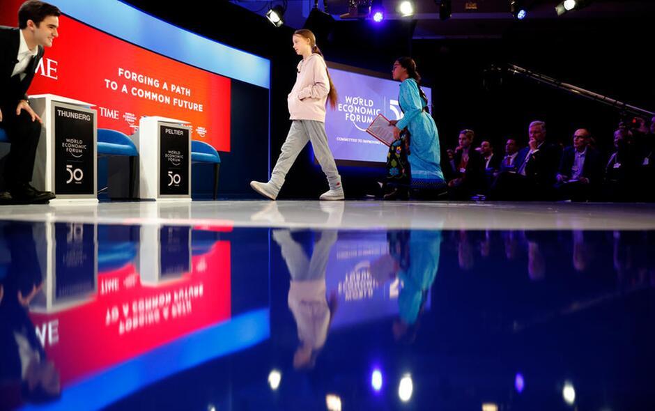 Greta Thumberg a Davos per l'ambiente