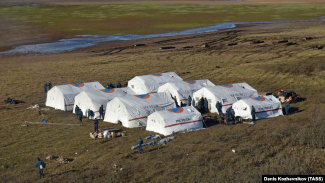Tende EMERCOM - Fuoriuscita gasolio a Norilsk in Siberia