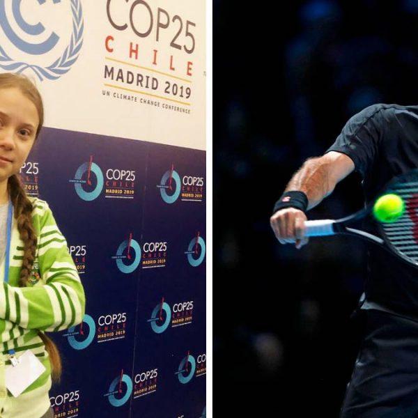 Greta Thumberg contro Federer
