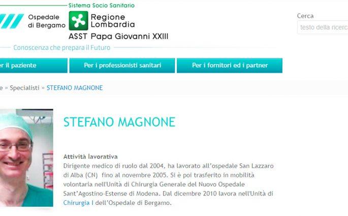 Stefano Magnone Medico Chirurgo Ospedale di Bergamo